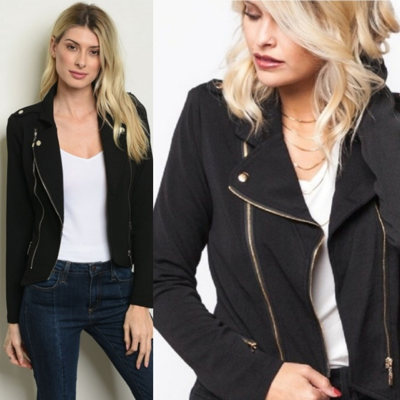Jackets & Blazers - 🆕️ 6 HOURS PRICE  DROPBlack Long Sleeve Open Fron